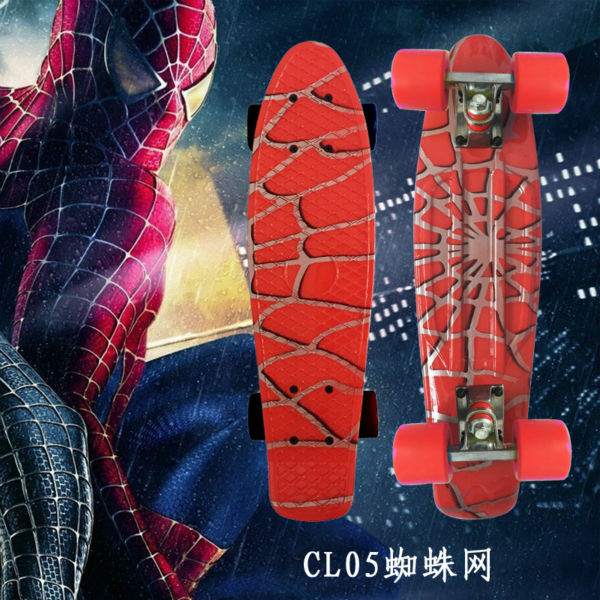 """Image 3 - Complete Plastic Skateboard 22"""" pney Board with Colorful Plastic Mini Fish Board forBoy Girl Mini Skate Crusier 6Types Available-in Skate Board from Sports & Entertainment"""