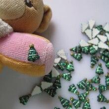 RC139-4 30 шт забавная Рождественская елка форма ногтей смола украшения Outlooking