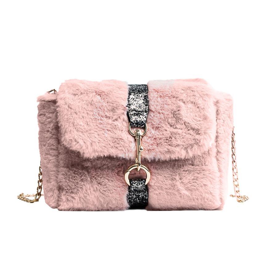 MOLAVE Shoulder Bags high quality autumn winter chain fur Korean Messenger wild women shoulder bags crossbody bag jan12