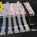 Frete Grátis doce cor de largura alça de sutiã alças de sutiã de silicone Invisível Transparente & frested straps verão estilo