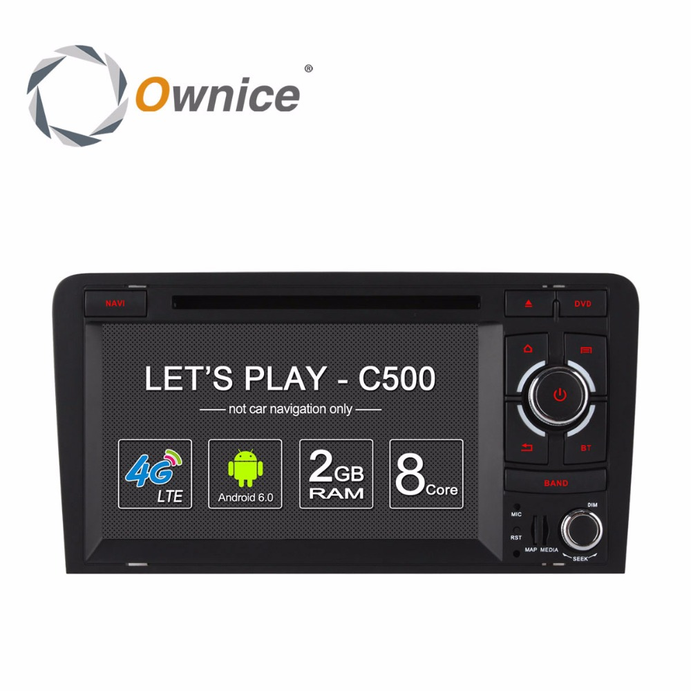 Ownice для Audi A3 2003-2011 S3 2003-2011 android-автомобиля gps Системы DVD мультимедийный плеер радио аудио steteo PC 4 г SIM LTE DVR DAB +