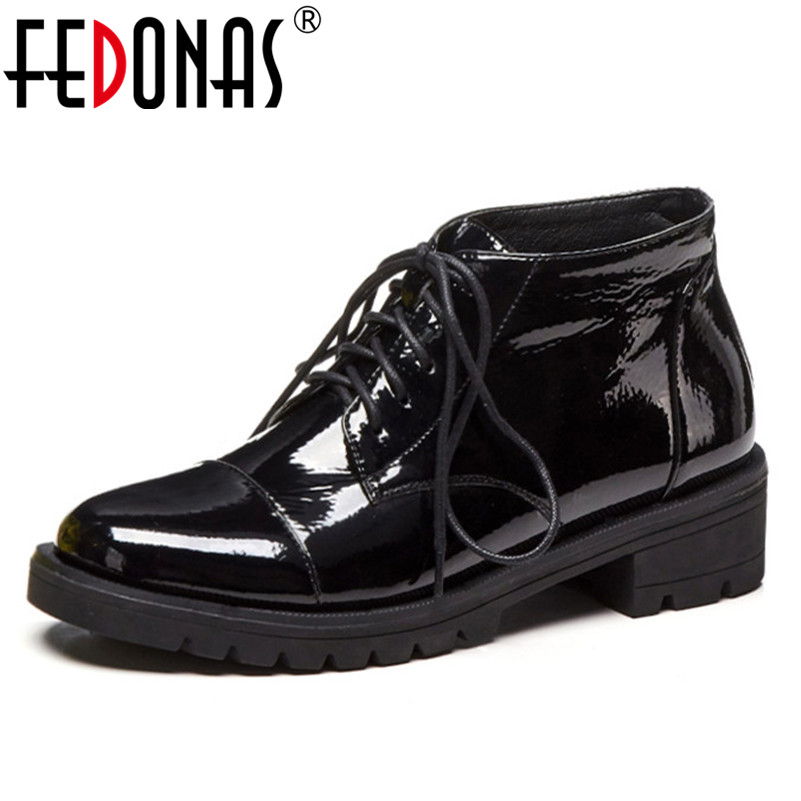 FEDONAS Punk Women Ankle Boots Corss-tied Patent Leather Party Dancing Shoes Woman High Heels Round Toe Night Club Pumps BootsFEDONAS Punk Women Ankle Boots Corss-tied Patent Leather Party Dancing Shoes Woman High Heels Round Toe Night Club Pumps Boots