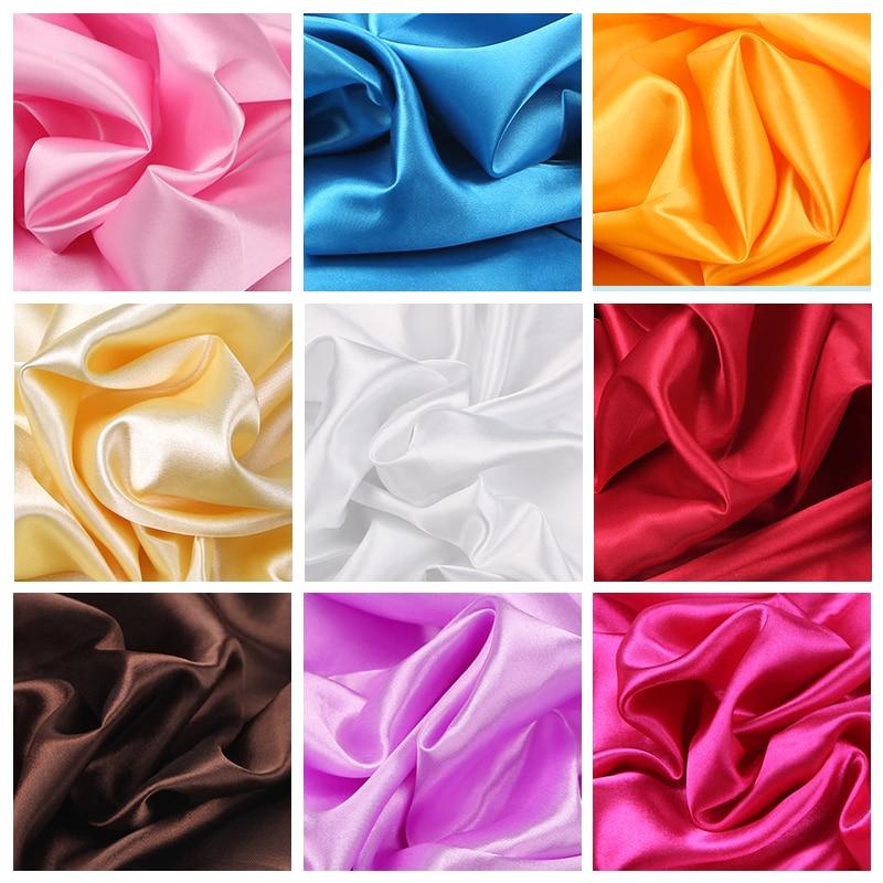 100cm * 150cm tecido de cetim leite, seda, broca, pano, 16 cores, caixa de presente, forro, tenb vestido