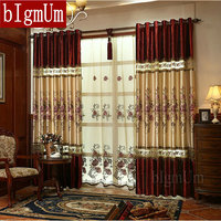 New Luxury Rèm cho Cửa Sổ Màn Châu Âu Hiện Đại thanh lịch cao quý thêu bóng râm curtain đối living phòng ngủ phòng
