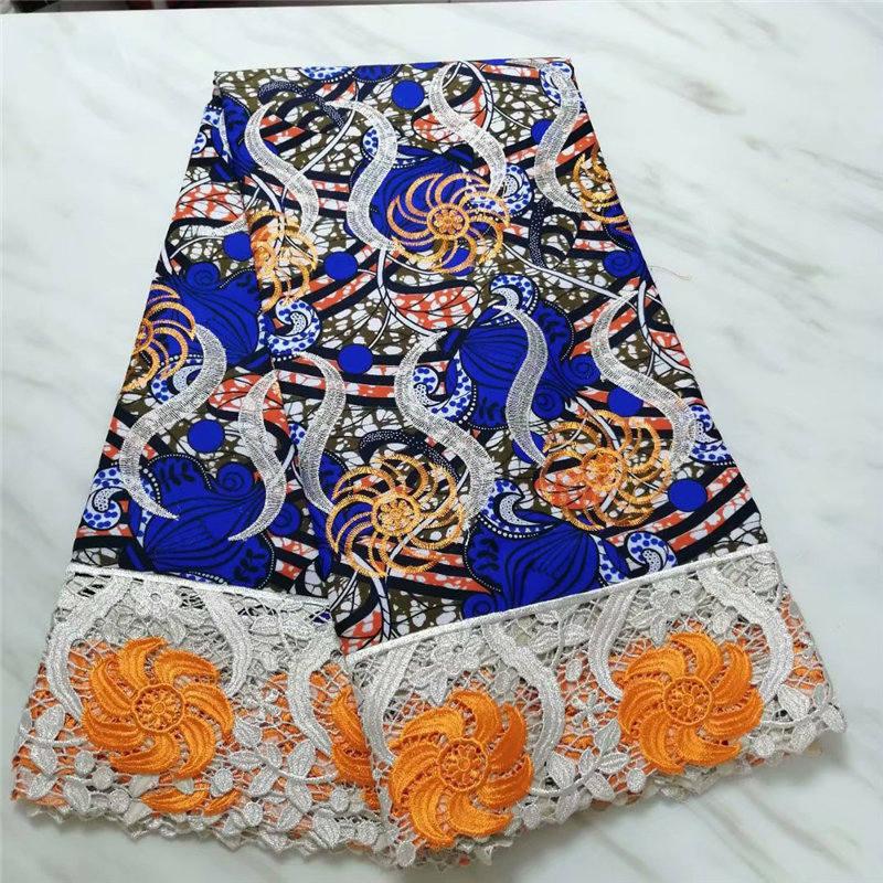 Africain Ankara tissu 2019 haute qualité cire dentelle tissu inde femmes robe de mariée imprime coton cire dentelle tissu livraison gratuite