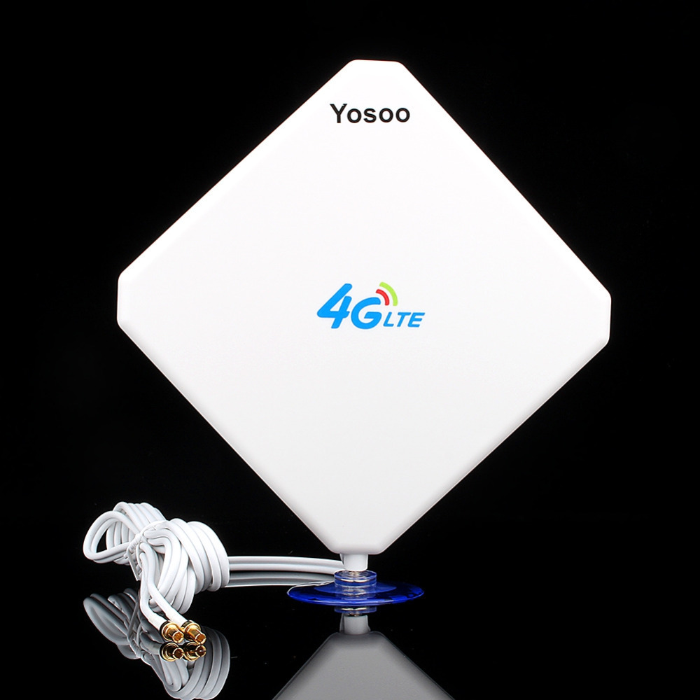 1Pcs White 35dbi TS9 3G 4G LTE For HUAWEI External Antenna with Foot Free Shipping High Quality Cell Phone Signal Booster