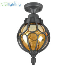 Ретро Лофт скандинавский открытый потолочный светильник, винтажный Балконный проходной открытый поверхностный потолочный светильник, американский стиль внешние светильники