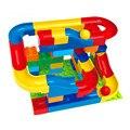 Etiqueta engomada del regalo 47 unids run bola rodante ferroviario bloques de construcción enlighten educación aprendizaje ladrillos niños juguetes compatible legoe duploe