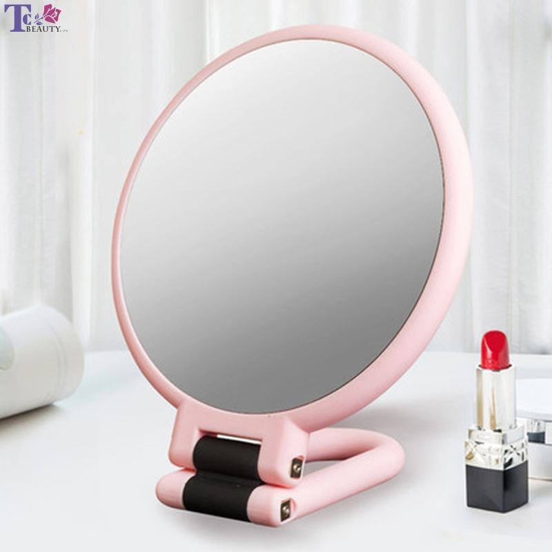 10X Makeup Mirror Desktop Dressing Mirror Folding Book Desktop Princess Female Beauty Handle Double-sided Magnifying Mirror nyx professional makeup двустороннее зеркало dual sided compact mirror 03