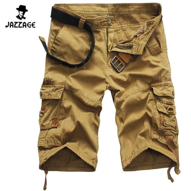 166cc958f8 Pantalones cortos Hombre 2018 marca Moda hombre Bermudas hombres cortos  Hombre cargo Pantalones cortos trabajo Pantalones