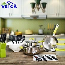 24-piece/set Jogo De Panelas Lfgb Real Tencere Casserole Fda Stainless Steel Cookware Cooking Pot Hot Sale Set Kitchen Tool