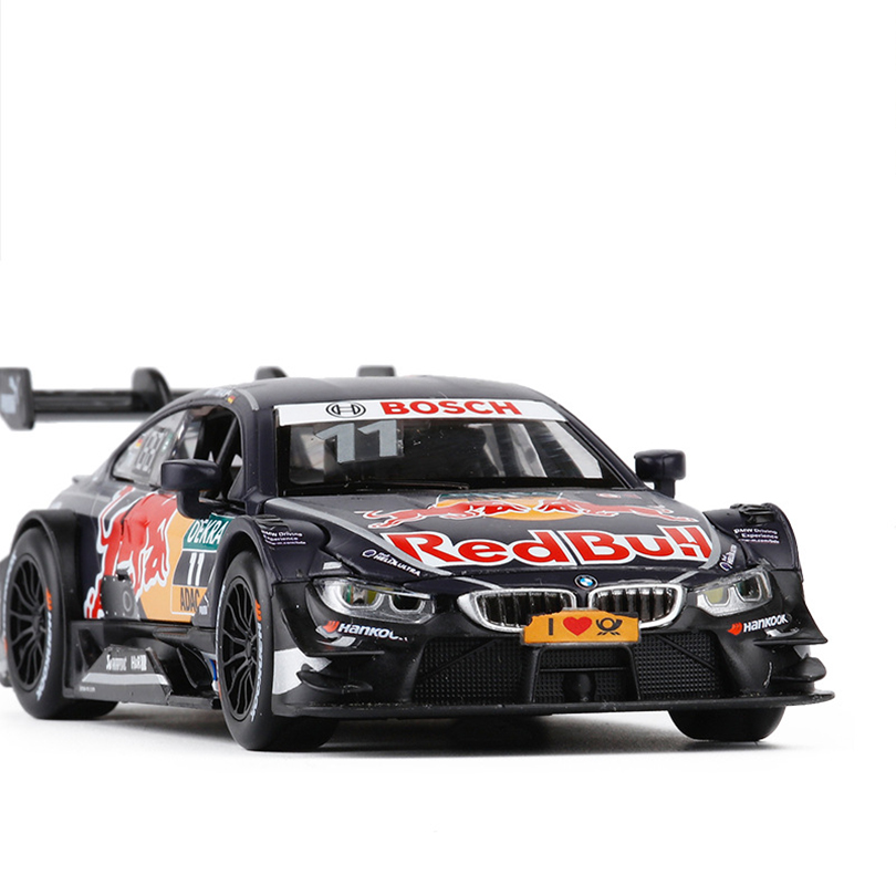 1/32 M4 DTM Sports Car Simulation Toy Car Model Alloy Pull Back Children Toys Genuine License Collection Gift Off-Road Vehicle