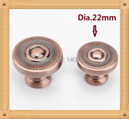 Dia. 22mm Rojo color de cobre de Aleación de Zinc Cocina perilla del ...