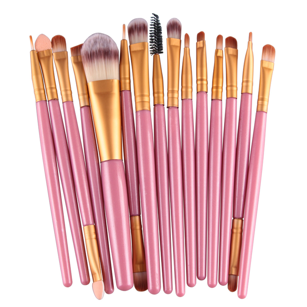 15Pcs Makeup Brushes Set Eye Shadow Foundation Powder Eyeliner