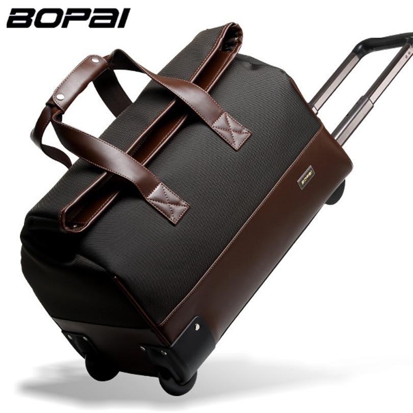Unisex Trolley Travel Bags On Wheels Waterproof men s trolley luggage  travel duffle bag 2016 bolsos carteras mujer marca 809bd6731ec2d