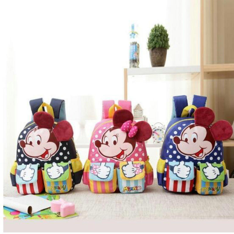 Cartoon Mickey Children School Bags For Girls&Boy 2018 Kids Backpack Child Book Bag Minnie Princess Schoolbags Mochila Escolar