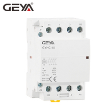 Free Shipping GEYA 4P 40A 4NO or 2NC2NO 220V/230V 50/60HZ Din Rail Household AC Modular Contactor стоимость