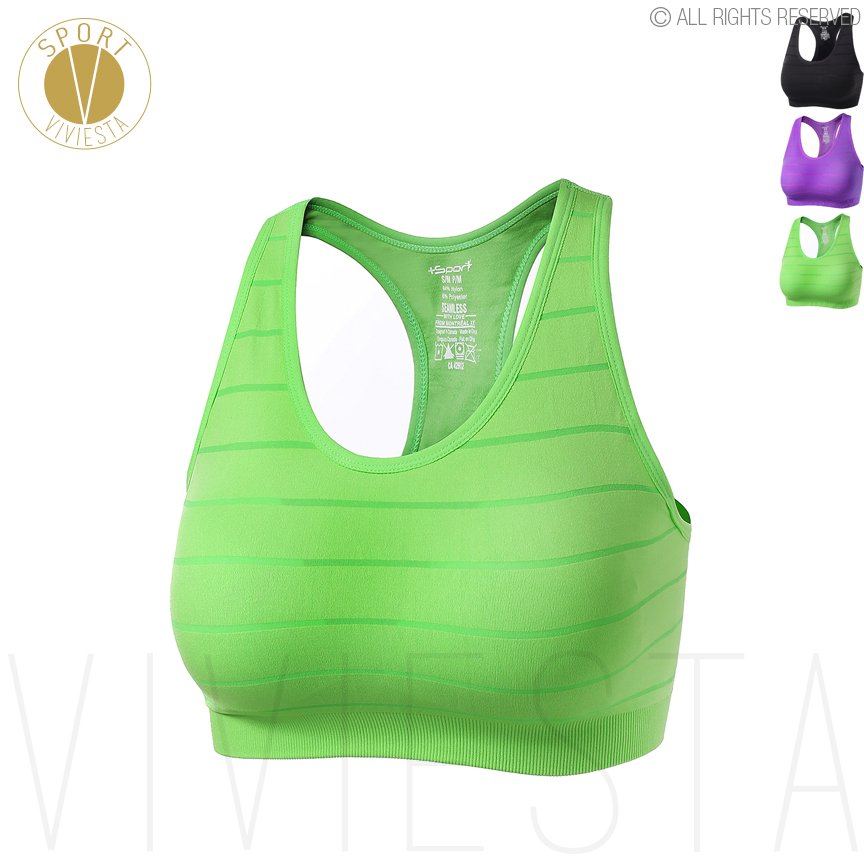 Sports Bra Fluorescent Webbing Sports Vest high-Strength Fitness Bra