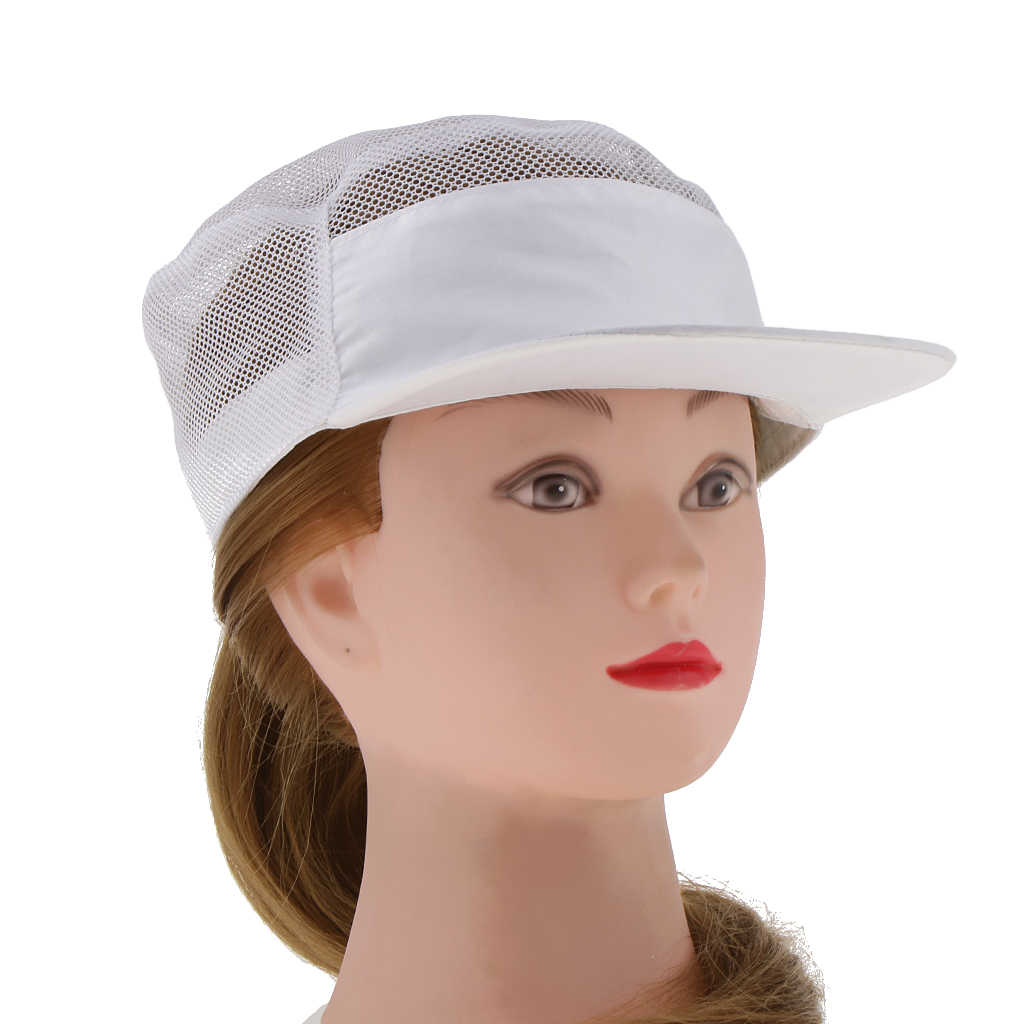 Белая сетка шеф-повара шляпа официанты шляпа Оснастки-обратно еда обслуживание униформа одежда унисекс для питания хлебобулочных гостиничных работников