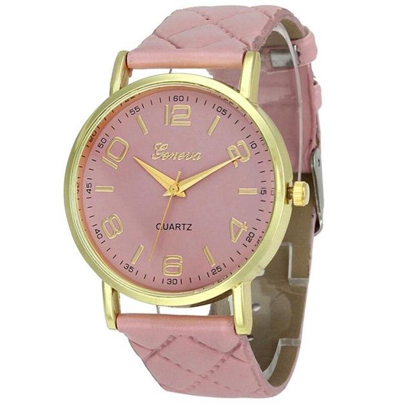 New Women Bracelet Watch Geneva Famous brand Ladies Faux Leather Analog Quartz Wrist Watch Clock Women relojes mujer Наручные часы