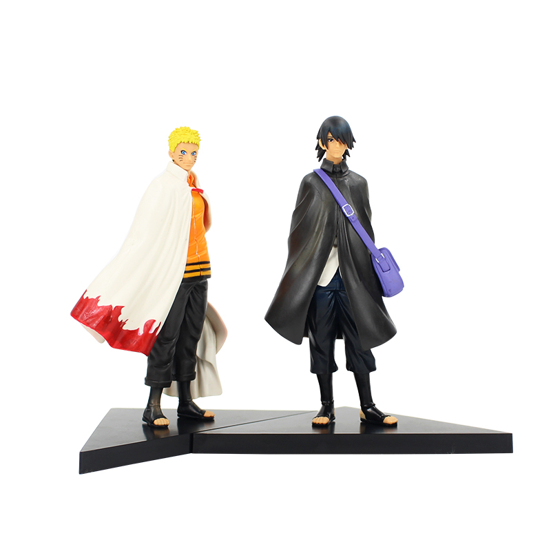 2pcs/lot 16cm Anime Naruto Uzumaki Naruto Uchiha Sasuke Action Figure PVC Model Collection Figurine Toy 22cm cool naruto kakashi sasuke action figure anime puppets figure pvc toys figure model table desk decoration accessories