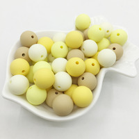Sunligh Candy Silicone Beads Sun colors Teething Beads Safe Food Grade Teething 10mm/12mm/15MM Round Silicone Beads 100pcs/lot