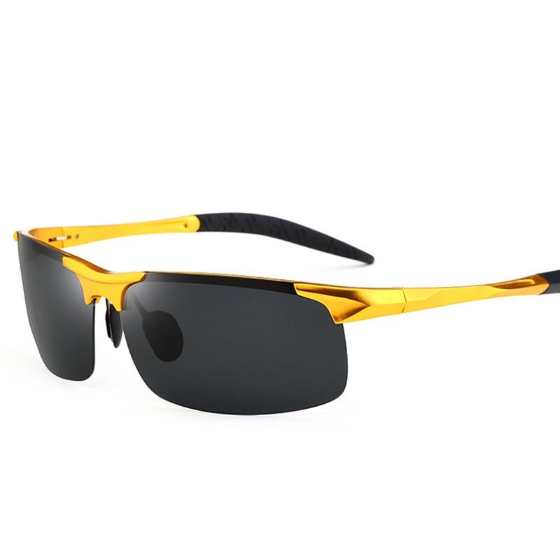 Heren Sportstijl Gepolariseerde Zonnebril voor Heren Reizen Oculos Rijden Golf Randloos Aluminium magnesium Metalen montuur Bril