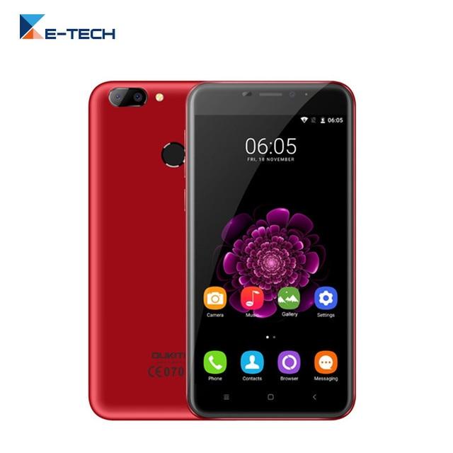 Oukitel U20 плюс смартфон MTK6737T 4 ядра 5.5 дюймов Экран 2 ГБ Оперативная память 16 ГБ Встроенная память отпечатков пальцев телефон 13.0MP 4 г FDD LTE мобильный телефон