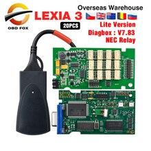 2019 Professional เครื่องมือ Lexia 3 สำหรับ Citroen lexia3 pp2000 อินเทอร์เฟซใหม่ Diagbox V7.83 Lexia 20 ชิ้น/ล็อต