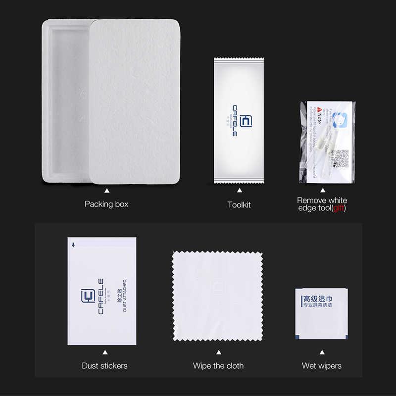 Protetor de tela cafele para xiaomi redmi note 7 8 pro 4a 4pro k20 pro vidro temperado para xiaomi 9t pro 2.5d capa não completa hd