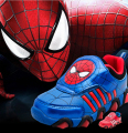 Children Shoes 2016 New Spring Autumn Spiderman Flasher Fashion Sports Sneakers For Kids Sport Brand Light Boys Shoes Led