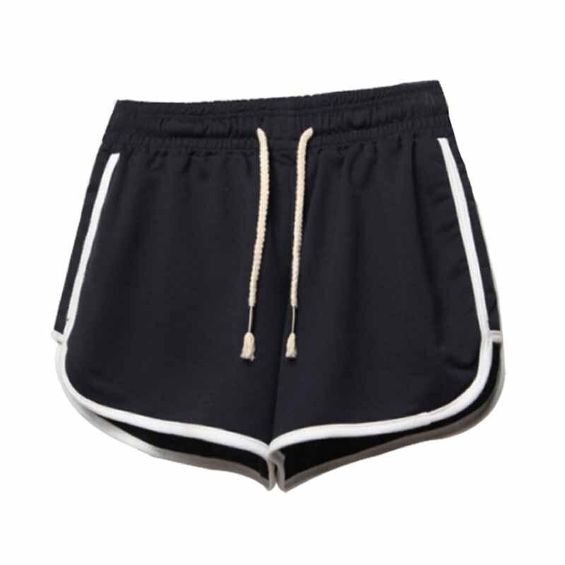 Drawstring Shorts Women Casual Loose Cotton Clothes Side Split Elastic Waist Shorts Femme Fitness Short Plus Size