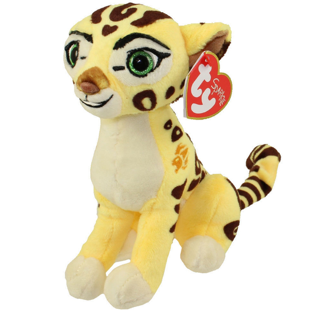 Pyoopeo Ty Lion Guard Beanie Babies 6 15cm Fuli The Cheetah Plush