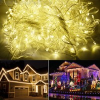 100M 600 LED Warm White Lights Decorative Wedding Fairy Christmas Tree Party Twinkle String Lighting 7W