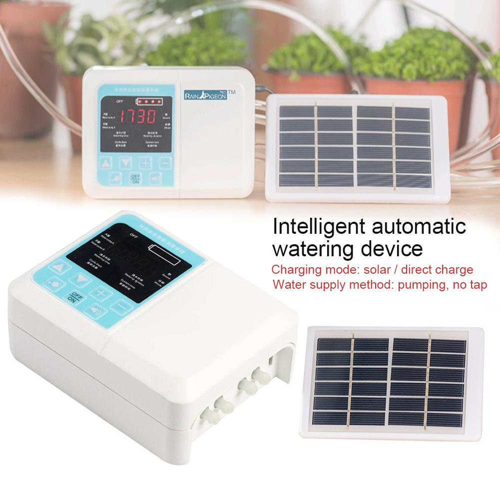 Solar Plant Intelligent Garden Automatic Watering Autoriego Energy Charging Drip Irrigation Device Water Pump Timer System