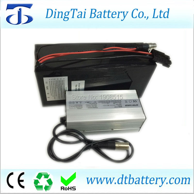Light  weight 1500w 20S6P 72V 20ah lithium ion battery pack with BMS and charger by 18650 3500MAH cells lithium battery pack 72v 20ah li ion 18650 battery with 3a charger and bms for 5000w motor