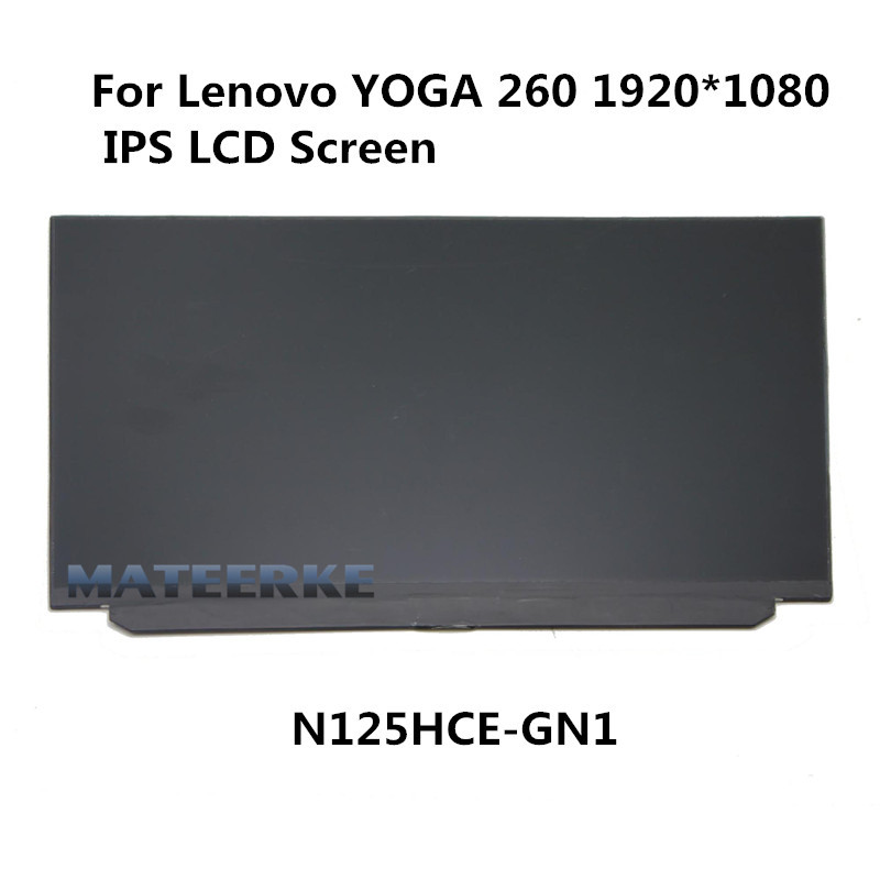 где купить 1080P For Lenovo ThinkPad Yoga 260 12.5'' Slim IPS FHD LCD Display Panel Screen N125HCE-GN1 дешево