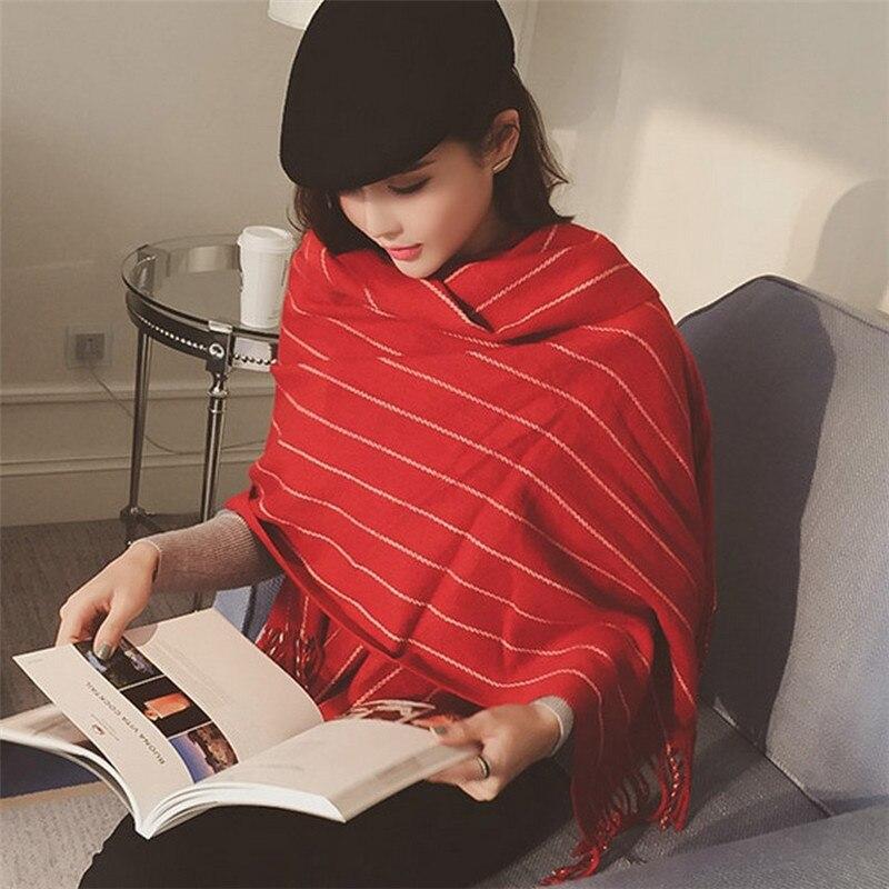 6c5570d115f Nueva moda Venta caliente multicolor rayas Plaid Cachemira manta bufanda  mujer pashmina moda caliente invierno pañuelo chal