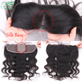 "7A Grade 13""*4"" Ear To Ear Silk Base Lace Frontal Closure Body Wave Virgin Brazilian Full Lace Frontal Closures With Baby Hair"