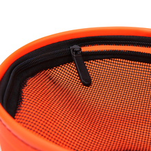 18cm Outdoor Portable EVA Canvas Bucket Folding Bucket Portable Camping Hiking Fishing Bucket Fishing Tackle StorageTools Orange