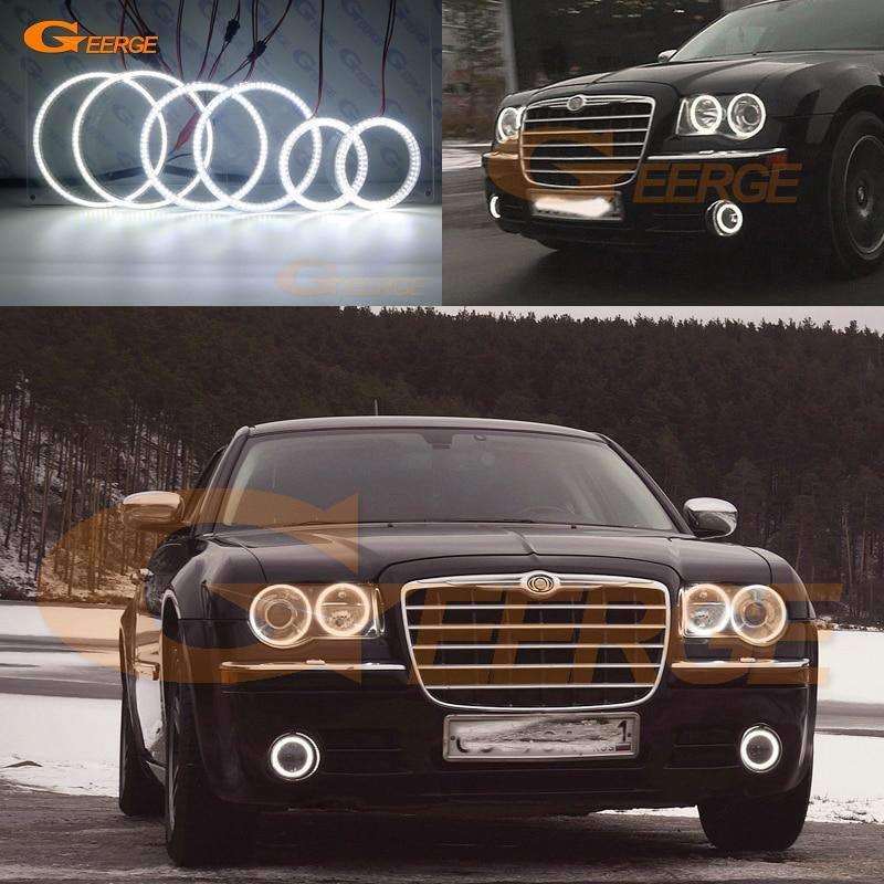 For Chrysler 300C 2004 2005 2008 2009 2010 Excellent 6 pcs smd led Angel Eyes Super bright 3528 SMD led Angel Eyes kit DRL неоновые кольца angel eyes duntuo smd 60 2