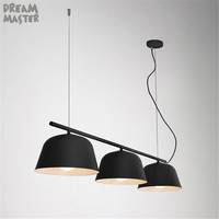 Colorful nordic table pendant lights, Art exhibition clothing store cafe bar 3 lights, industrial E27 kitchen sink over lamp