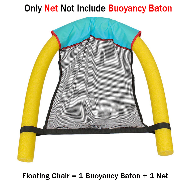 Kids Adult Swimming Chair Net  Bag Swimming Essential  Novelty Bright Color Pool  Amazing Floating Bed Chair