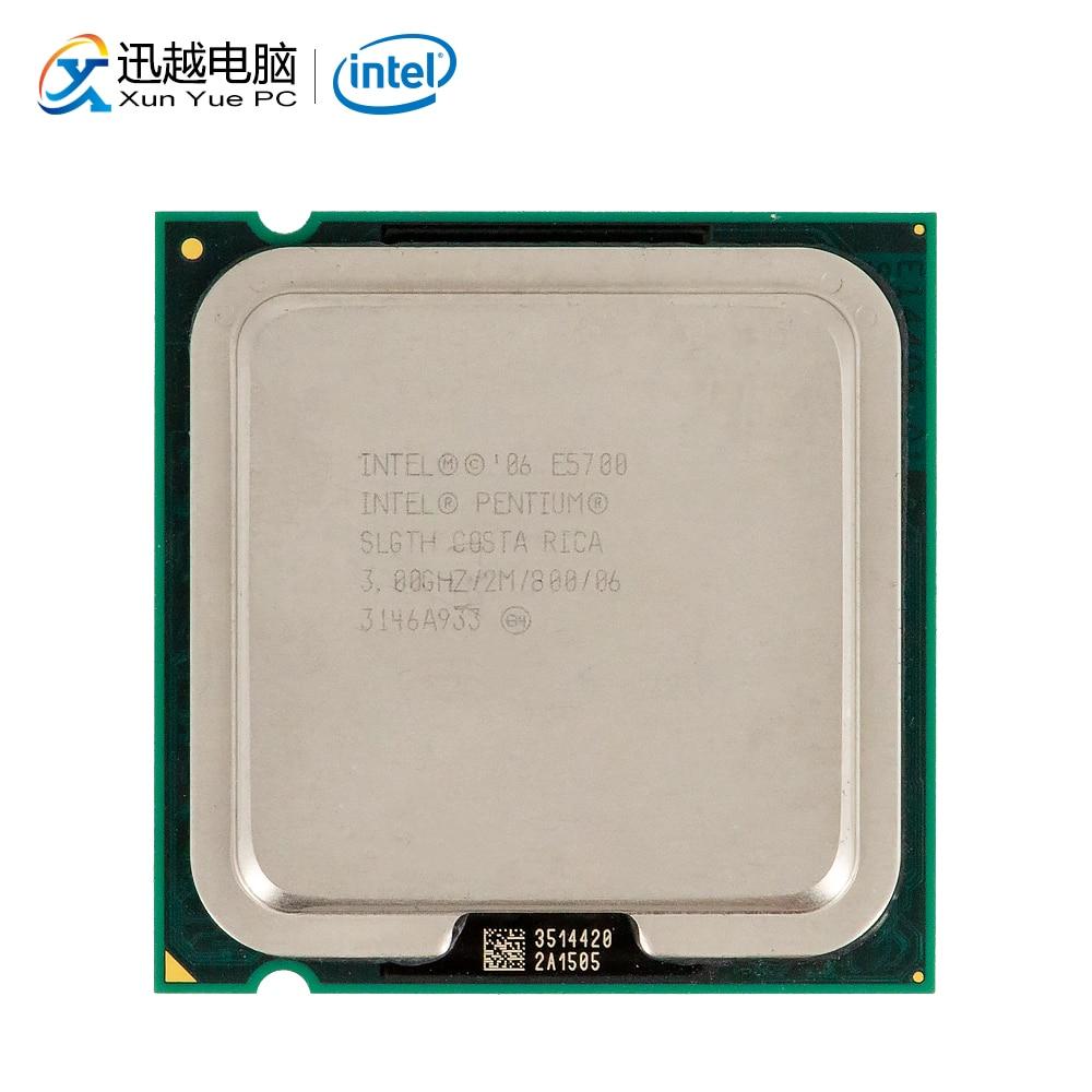 Intel Pentium Dual-Core E5700 Desktop Processor 3.0 GHz 2MB Cache FSB 800MHz LGA 775 5700 Used CPU