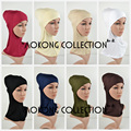 Full Inner Muslim Hijab Cap Cotton Viscose Jersey Plain Soild Hijab Underscarf Islamic Head Wear Hat Women Bonnet Tubes Wraps