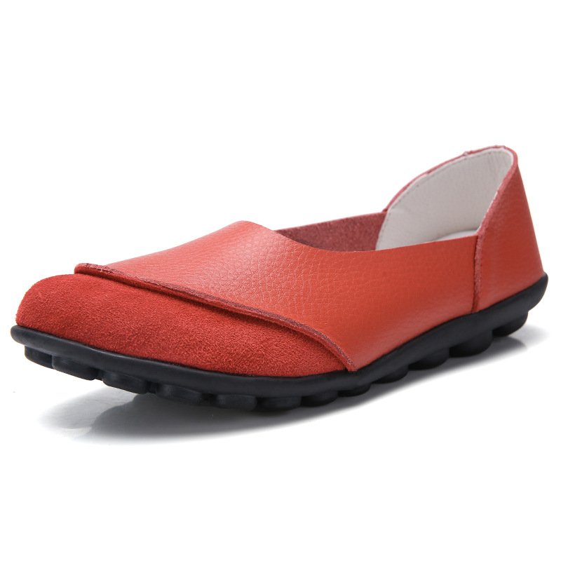 Loafers Female Moccasins Flat-Shoes Spring Autumn Hot-Sale Genuine-Leather Women New