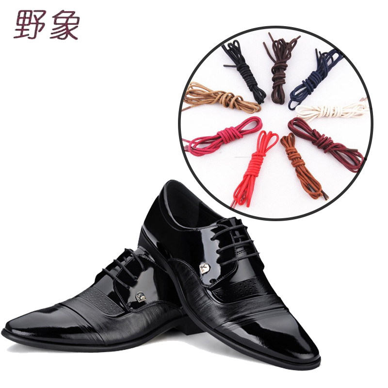 80/120cm Round shoelaces leather man shoelace business lace casual shoelace waxing waterproof Wax Polyester fiber flat shoelaces