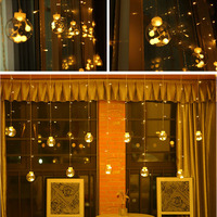 2M 12pcs Ball Led Curtain light 108 leds string Multicolor AC220V 110V Waterproof Fairy Tale String Lights Holiday Ligh
