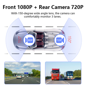 Image 5 - Stream Rear View Mirror Car Dvr Dash Camera Avtoregistrator 10 IPS Touch Screen Full HD 1080P Car Dvr Dash Cam Night Vision