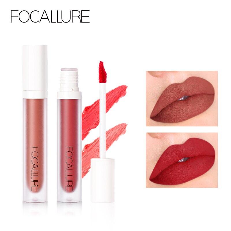 FOCALLURE Neue Ankunft Rot Samt matt flüssigen lippenstift wasserdicht langlebige 9 farben lippenstifte Matt lip stick